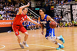 Marcus Ryan Elliott #2 of Eastern Long Lions goes to the basket against the SCAA during the Hong Kong Basketball League playoff game between Eastern Long Lions and SCAA at Queen Elizabeth Stadium on July 24, 2018 in Hong Kong. Photo by Marcio Rodrigo Machado / Power Sport Images