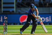 James Taylor is bowled by Tim Southee during the ICC Cricket World Cup one day pool match between the New Zealand Black Caps and England at Wellington Regional Stadium, Wellington, New Zealand on Friday, 20 February 2015. Photo: Dave Lintott / lintottphoto.co.nz