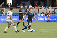San Jose, CA - Tuesday June 11, 2019: Tommy Thompson #22 during the US Open Cup match between the San Jose Earthquakes and Sacramento Republic FC at Avaya Stadium.