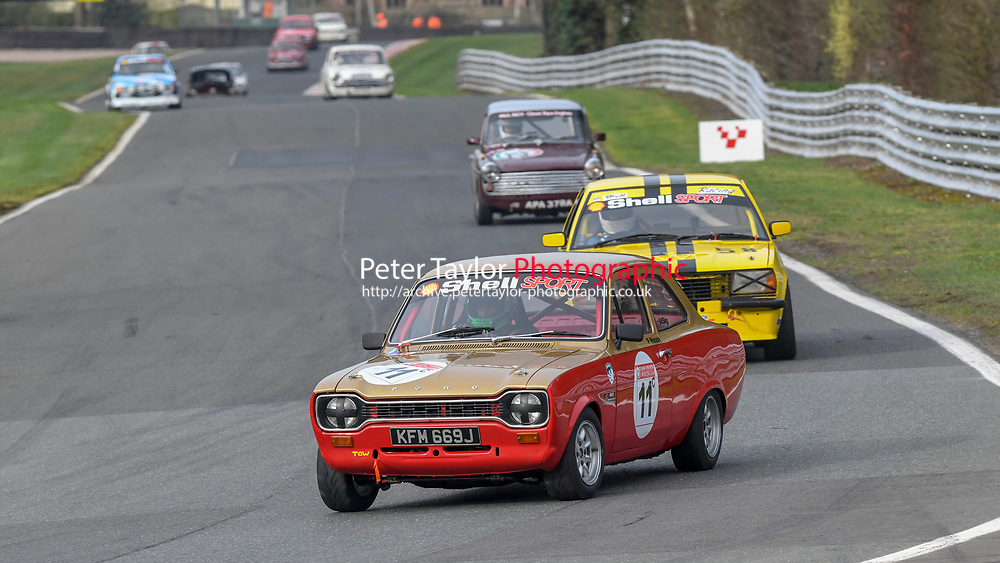 #11 Philip HOUSE Ford Escort RS2000 MK1 2000 during Paul Inch Classic and Historic Touring Cars and Shell Group 1 Touring Cars, Pre 66 and Pre 83 Touring Car Championship as part of the BARC NW National Championship Race Meeting at Oulton Park, Little Budworth, Cheshire, United Kingdom. March 23 2019.