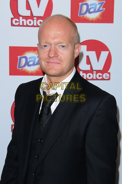 Jake Wood.Arrivals at the TV Choice Awards 2012 held at the Dorchester Hotel, London, England..September 10th, 2012.half length black suit white shirt .CAP/CJ.©Chris Joseph/Capital Pictures.