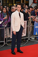 LONDON, UK. October 12, 2018: Harry Melling at the London Film Festival screening of &quot;The Ballad of Buster Scruggs&quot; at the Cineworld Leicester Square, London.<br /> Picture: Steve Vas/Featureflash