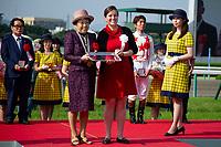 TAKARAZUKA,JAPAN-JUNE 24: Breeders' Cup souvenir in the the Takarazuka Kinen winning ceremony at Hanshin Racecourse on June 24,2018 in Takarazuka,Hyogo,Japan (Photo by Kaz Ishida/Eclipse Sportswire/Getty Images)