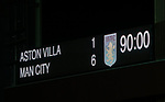The final scoreboard during the Premier League match at Villa Park, Birmingham. Picture date: 12th January 2020. Picture credit should read: Darren Staples/Sportimage