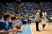November 18, 2008. Chapel Hill, NC..UNC vs. Kentucky, at the Dean Smith Center in Chapel Hill.. Head coach, Roy Williams, and Ty Lawson, #5.