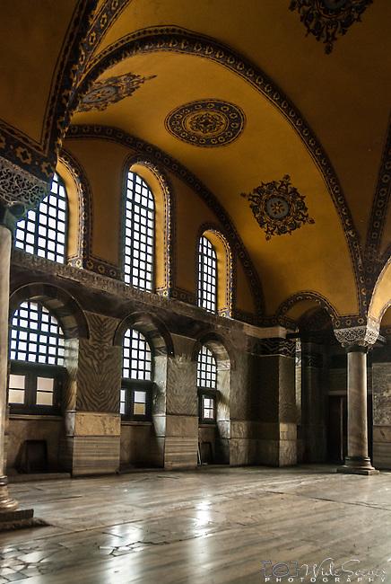 Interior of the Hagia Sophia in Istanbul, Turkey