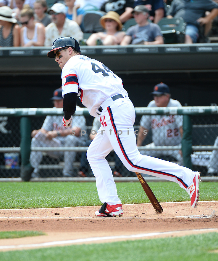 Chicago White Sox Justin Morneau (44) during a game against the Detroit Tigers on July 24, 2016 at US Cellular Field in Chicago, IL. The White Sox beat the Tigers 5-4.