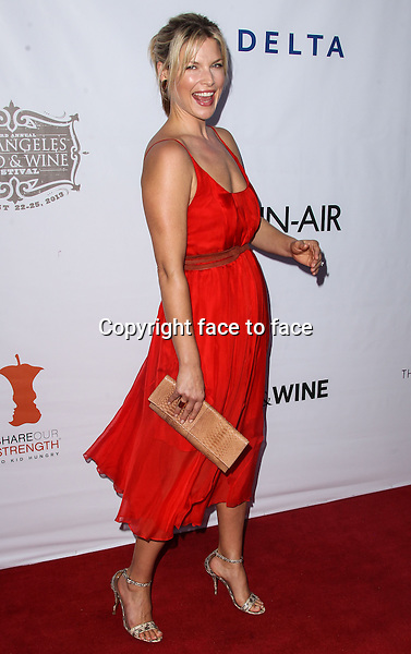 LOS ANGELES, CA - AUGUST 22: Ali Larter arrives at the 3rd Annual Los Angeles Food &amp; Wine Festival Opening Night on August 22, 2013 in Los Angeles, California.<br />