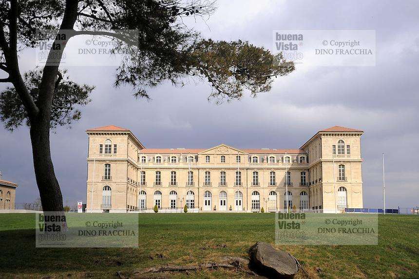 - Marsiglia, il Palais du Pharo, antica dimora estiva dell'imperatore Napoleone III....- Marseille, the Palais du Pharo,  former summer residence of Emperor Napoleon III
