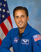 Houston, TX - (FILE) -- August 17, 2004 file photo of Joseph M. (Joe) Acaba, mission specialist, STS-119, scheduled for launch no earlier than February 27, 2009.  Space shuttle Discovery will deliver the International Space Station's fourth and final set of solar arrays, completing the station's backbone, or truss structure.  The arrays will provide enough electricity to power science experiments and support the station's expanded crew of six. Altogether, the station's arrays can generate about 120 kilowatts of usable electricity -- enough to provide about 42 2,800-square-foot homes with power. The 14-day flight will include four spacewalks, lasting about 6.5 hours each, to help install the S6 truss segment to the right side of the station. STS-119 is the 125th space shuttle flight, the 28th flight to the station, the 36th flight of Discovery, and the first flight in 2009..Credit: NASA via CNP