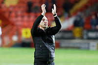 Swansea City manager Steve Cooper celebrates his team's win during the Sky Bet Championship match between Charlton Athletic and Swansea City at The Valley, London, England, UK. Wednesday 02 October 2019