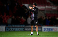Lincoln City manager Danny Cowley applauds the fans at the final whistle<br /> <br /> Photographer Chris Vaughan/CameraSport<br /> <br /> EFL Leasing.com Trophy - Northern Section - Group H - Doncaster Rovers v Lincoln City - Tuesday 3rd September 2019 - Keepmoat Stadium - Doncaster<br />  <br /> World Copyright © 2018 CameraSport. All rights reserved. 43 Linden Ave. Countesthorpe. Leicester. England. LE8 5PG - Tel: +44 (0) 116 277 4147 - admin@camerasport.com - www.camerasport.com