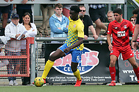 Josue Antonio of Harlow Town and Ruel Sotiriou of Leyton Orient during Harlow Town vs Leyton Orient, Friendly Match Football at The Harlow Arena on 6th July 2019