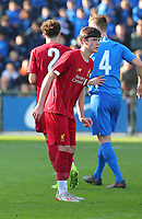 20191023 - Genk: Liverpool's Layton Stewart is pictured during the UEFA Youth League group stages match between KRC Genk Youth and Liverpool FC on October 23, 2019 at KRC Genk Stadium Arena B, Genk, Belgium. PHOTO:  SPORTPIX.BE | SEVIL OKTEM