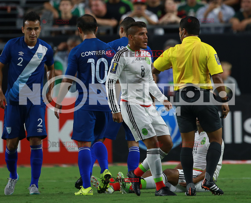 Jonathan DO Santos de Mexico(d) ,durante partido entre las selecciones de Mexico y Guatemala  de la Copa Oro CONCACAF 2015. Estadio de la Universidad de Arizona.<br /> Phoenix Arizona a 12 de Julio 2015.