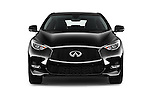 Car photography straight front view of a 2018 Infiniti QX30 Sport 5 Door SUV Front View