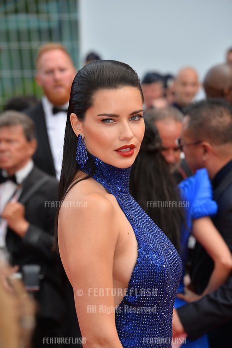 """CANNES, FRANCE. May 22, 2019: Adriana Lima at the gala premiere for """"Oh Mercy!"""" at the Festival de Cannes.<br /> Picture: Paul Smith / Featureflash"""