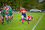 Munster's Maeve Darcy get away from the Connacht pack in the  Women's Interprovincial Rugby - Munster V Connacht at Tralee Rugby Club on Saturday