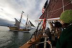 Riding on the Hawaiian Chieftain off the coast of Long Beach