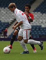 Men's Olympic Football match Egypt v Belarus on 1.8.12...Maksim Skavysh of Belarus, during the Men's Olympic Football match between Egypt v Belarus at Hampden Park, Glasgow.