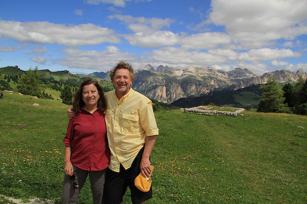 Sassolungo in the Dolomites, northern Italy, Europe.