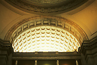 Washington D.C. : Natural History Museum, Interior. Coffered barrel vault. Photo '91.