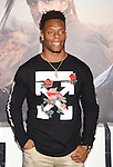 HOLLYWOOD, CA - FEBRUARY 15: NFL player Brandon Marshall arrives at the premiere of Universal Pictures' 'The Great Wall' at TCL Chinese Theatre IMAX on February 15, 2017 in Hollywood, California.