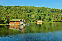Boathouses on Lake Rosseau, Near Rosseau, Ontario, Canada