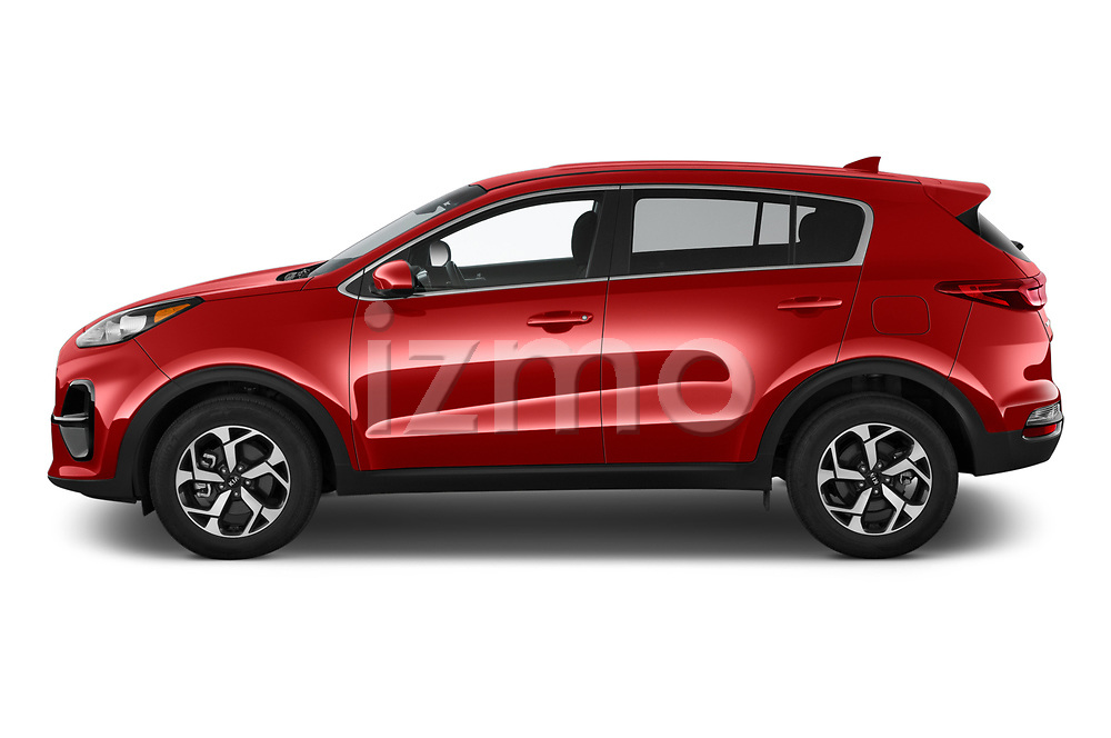 Car driver side profile view of a 2020 KIA Sportage LX 5 Door SUV
