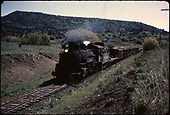 D&amp;RGW #498 with freight cars and flat cars possibly scrapping.<br /> D&amp;RGW  Gato area, CO