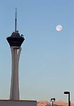 Las Vegas Nevada Stratosphere, first full Moon of 2018 Jan 2nd
