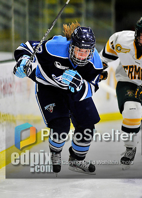 23 November 2011: University of Maine Black Bears' forward Tori Pasquariello, a Freshmen from Mississauga, Ontario, in action against the University of Vermont Catamounts at Gutterson Fieldhouse in Burlington, Vermont. The Lady Bears defeated the Lady Cats 5-2 in Hockey East play. Mandatory Credit: Ed Wolfstein Photo