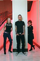 JAY BAKKER, son of Jim and Tammy Faye, is a minister in Atlanta, and the author of THE SON OF A PREACHER MAN.  He poses in lobby of the Omni Berkshire hotel with his wife, Amanda, and mother, the incomparable, Tammy Faye Bakker..21 E. 52 St., NYC.Newsday/ARI MINTZ  1/29/01