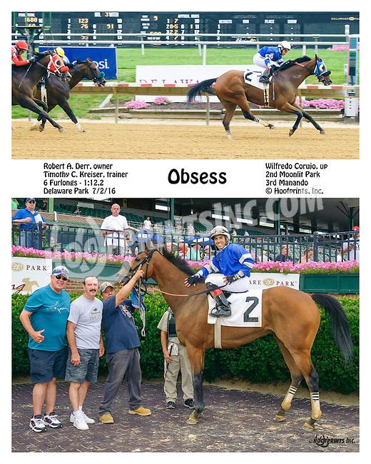 Obsess winning at Delaware Park on 7/2/16
