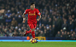 Roberto Firmino of Liverpool during the English Premier League match at Goodison Park, Liverpool. Picture date: December 19th, 2016. Photo credit should read: Lynne Cameron/Sportimage