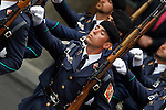 Spainsh soldiers of the Air Forces during a military parade marking the Armed Forces Day on June 2, 2012 in Valladolid.(ALTERPHOTOS/Acero)