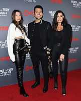 01 December 2018 - Los Angeles, California - Natalya Wright, Mark Wrigt, Jessica Wright. Heavyweight Championship Of The World 'Wilder vs. Fury' held at The Staples Center. <br /> CAP/ADM/BT<br /> &copy;BT/ADM/Capital Pictures