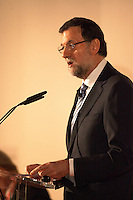 Spain's president Mariano Rajoy speaks to audience