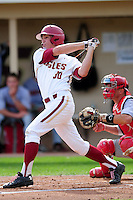 Boston College Eagles outfielder Donovan Casey (30) during a game versus the Hartford Hawks at Pellagrini Diamond at Shea Field on May 9, 2015 in Chestnut Hill, Massachusetts.  (Ken Babbitt/Four Seam Images)