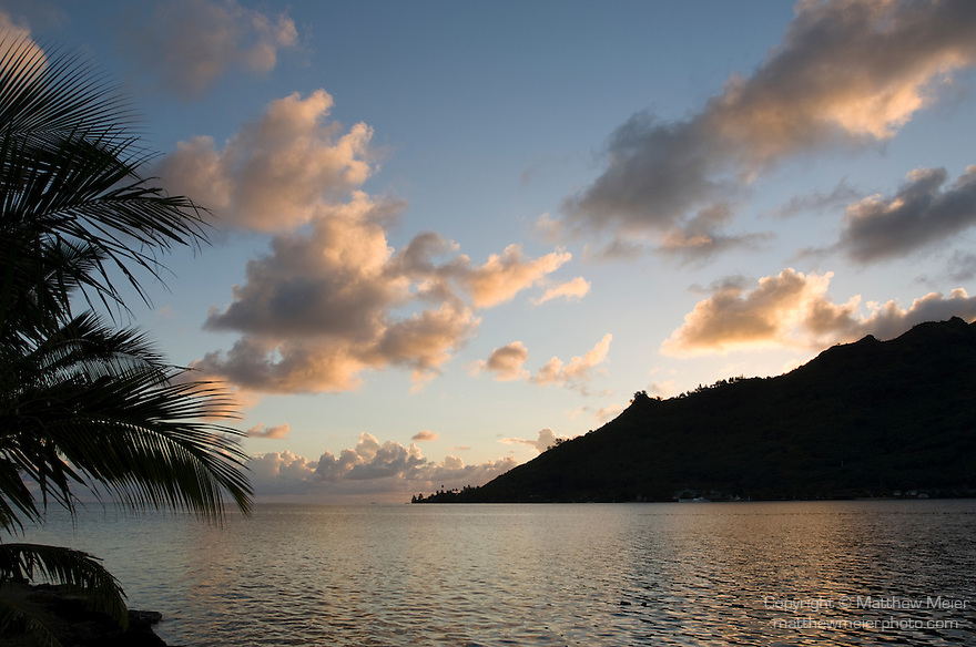 Cook's Bay, Moorea, French Polynesia; sunrise views from Gump Research Station , Copyright © Matthew Meier, matthewmeierphoto.com All Rights Reserved