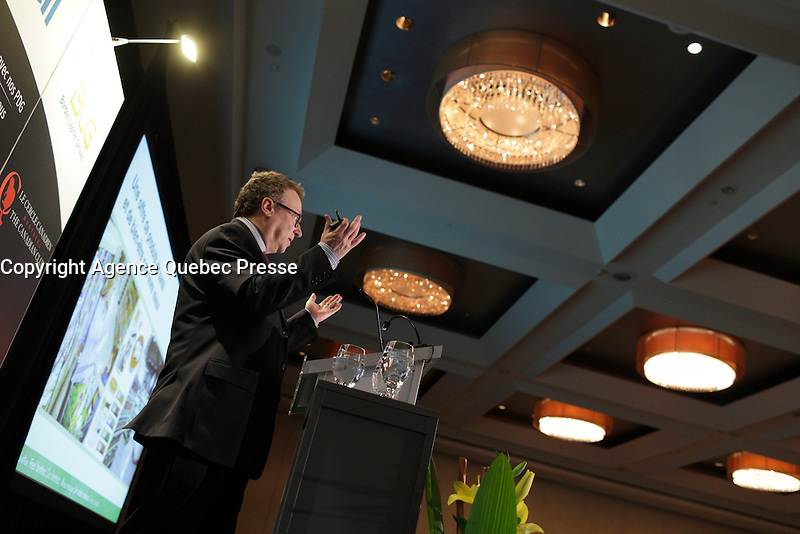 Marc Poulin, President &amp; CEO of Sobeys Inc. deliver a speech to the Canadian Club of Montreal,<br /> Monday, January 18, 2016<br /> <br /> Photo : Pierre Roussel - Agence Quebec Presse<br /> <br /> <br /> <br /> <br /> <br /> <br /> <br /> <br /> <br /> <br /> <br /> .