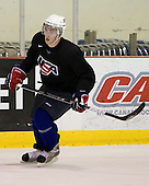 Ryan McDonagh (US White - 8) - US players take part in practice on Friday morning, August 8, 2008, in the NHL Rink during the 2008 US National Junior Evaluation Camp and Summer Hockey Challenge in Lake Placid, New York.