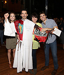 Laura Osnes, Kevin Worley, Beth Leavel and Corey Cott attend the Actors' Equity Broadway Opening Night Gypsy Robe Ceremony honoring Kevin Worley from 'Bandstand' at the Bernard B. Jacobs Theatre on 4/26/2017 in New York City.