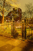 Gramercy Park Fence on an Overcast Autumn Evening, Manhattan, New York City, New York State, USA