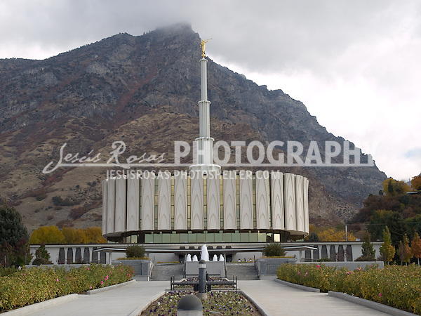 Provo Temple West Entrance<br />