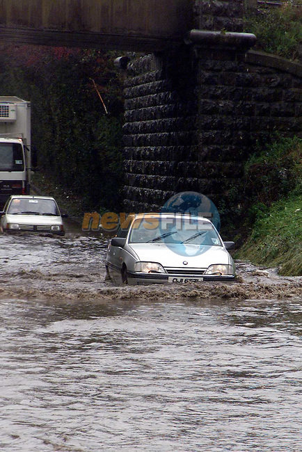 Flooding on the Beamore Road on Monday morning..Picture: Paul Mohan/Newsfile