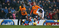 Blackburn Rovers' Jack Payne and Oldham Athletic's Wilfried Moimbe<br /> <br /> Photographer Stephen White/CameraSport<br /> <br /> The EFL Sky Bet League One - Blackburn Rovers v Oldham Athletic - Saturday 10th February 2018 - Ewood Park - Blackburn<br /> <br /> World Copyright &copy; 2018 CameraSport. All rights reserved. 43 Linden Ave. Countesthorpe. Leicester. England. LE8 5PG - Tel: +44 (0) 116 277 4147 - admin@camerasport.com - www.camerasport.com