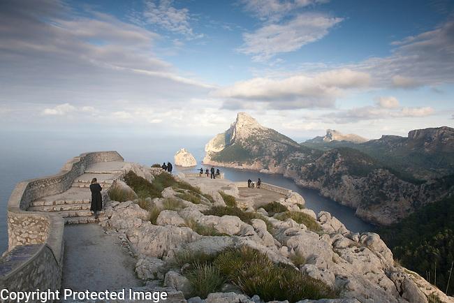 Creueta Viewpoint on Formentor in Majorca, Spain