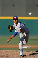 August 30 2009: Julio Ramos of the Stockton Ports during game against the Rancho Cucamonga Quakes at The Epicenter in Rancho Cucamonga,CA.  Photo by Larry Goren/Four Seam Images