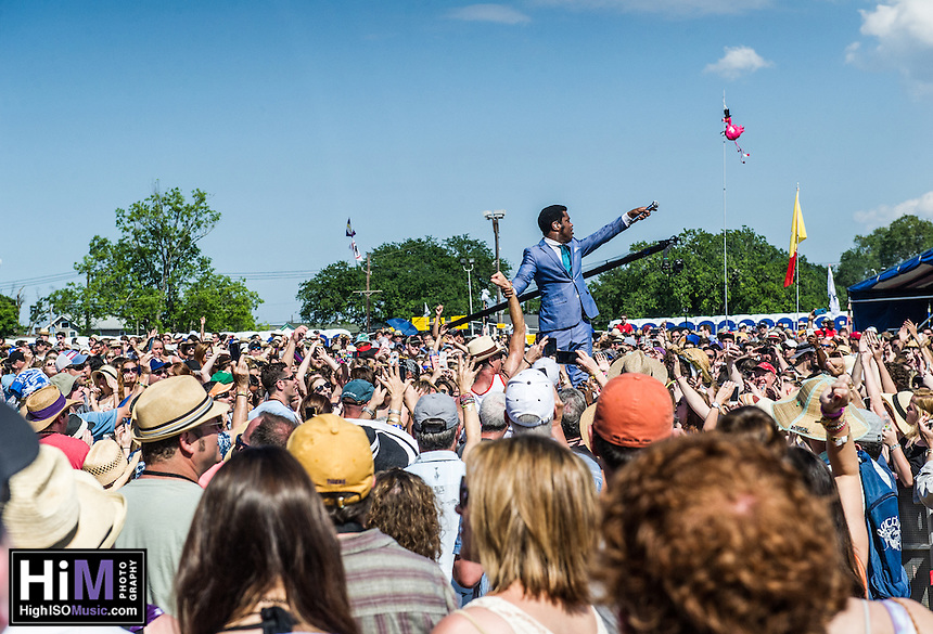 Vintage Trouble at the New Orleans Jazz and Heritage Festival on Day 6, in New Orleans, LA.